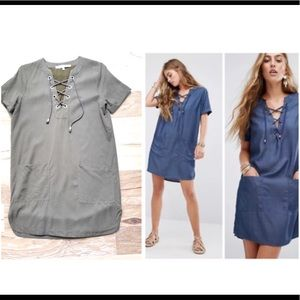 Lovers + Friends Olive Lace Up Shift Dress